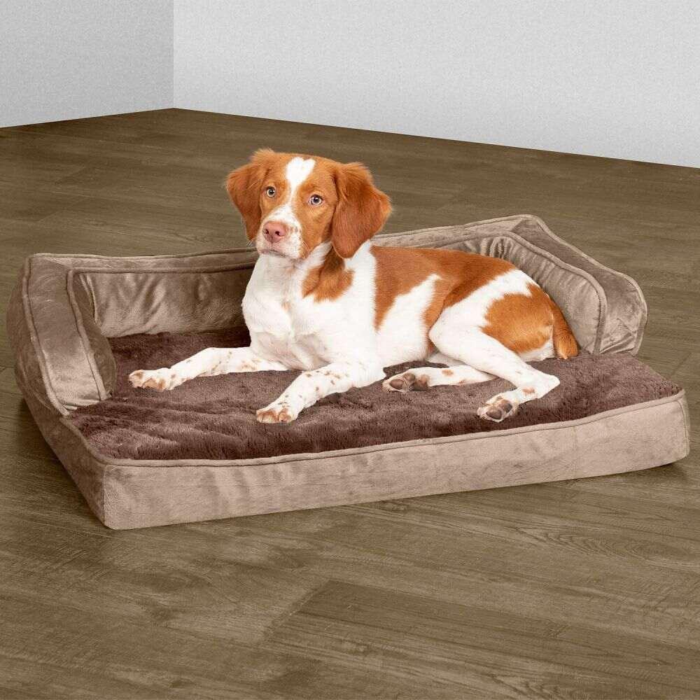 ファーヘイヴン FurHaven ペットグッズ 犬用品 ベッド FurHaven ファーヘイヴン ペットグッズ 犬用品 ベッド・マット・カバー ベッド【Plush  Velvet Cooling Gel Comfy Couch Dog  Cat Bed】Almondine