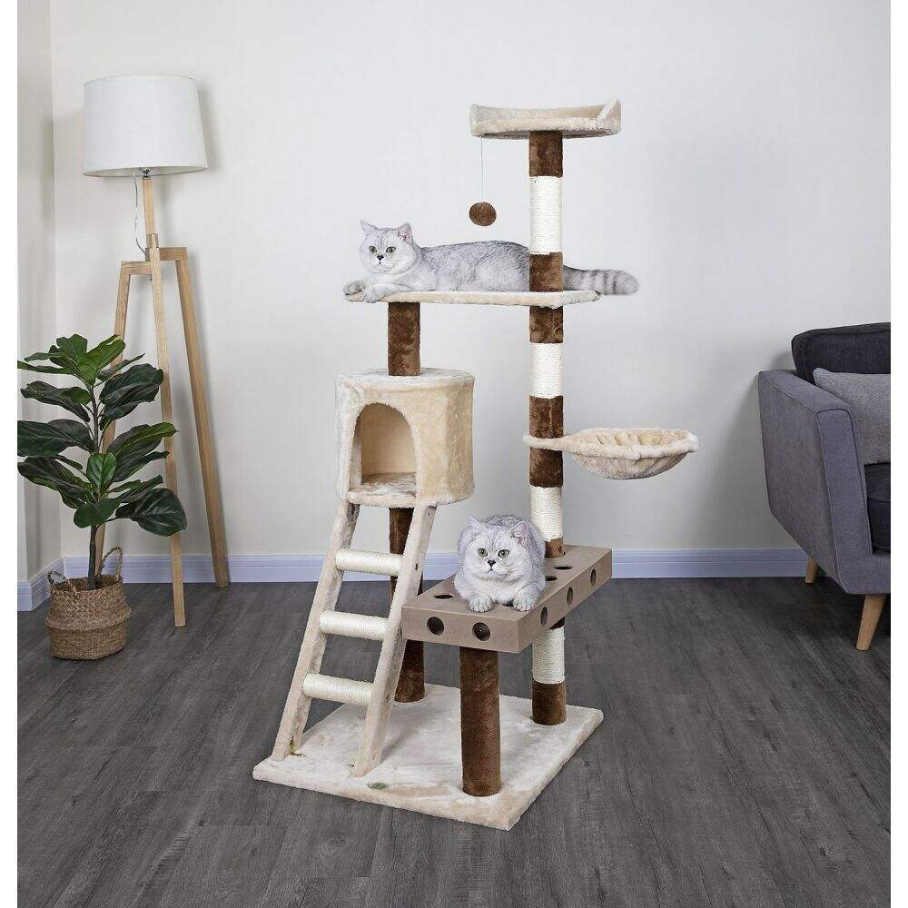 ゴーペットクラブ Go Pet Club ペットグッズ 猫用品 ベッド・マット・カバー Go Pet Club ゴーペットクラブ ペットグッズ 猫用品 ベッド・マット・カバー 【59-in IQ Busy Box Cat Condo, Beige】