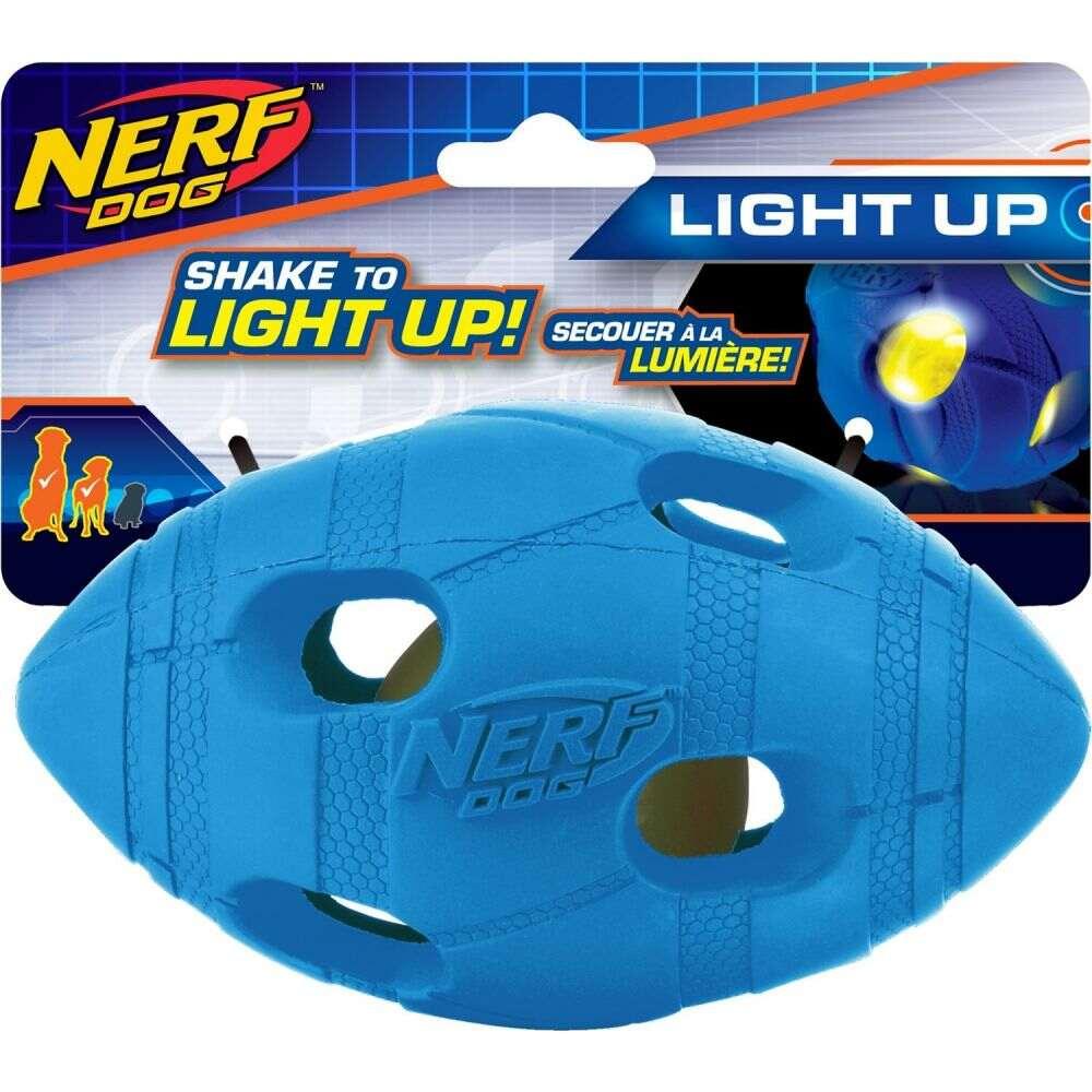 ナーフドッグ Nerf Dog ペットグッズ 犬用品 おもちゃ Nerf Dog ナーフドッグ ペットグッズ 犬用品 おもちゃ 【Light Up LED Bash Football Dog Toy】Blue