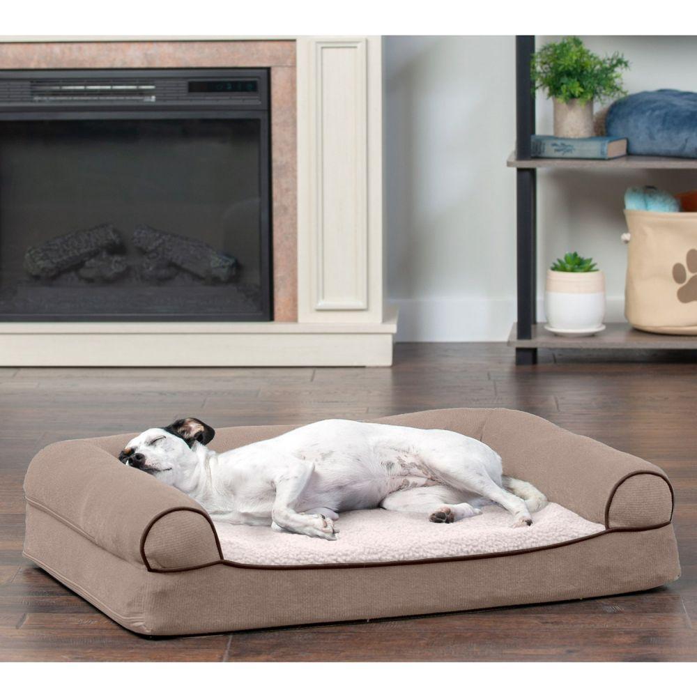 安値 ファーヘイヴン FurHaven ペットグッズ 犬用品 ベッド マット カバー Faux Fleece Dog Cover Bed ギフ_包装 Removable Cream Cat Orthopedic Bolster w