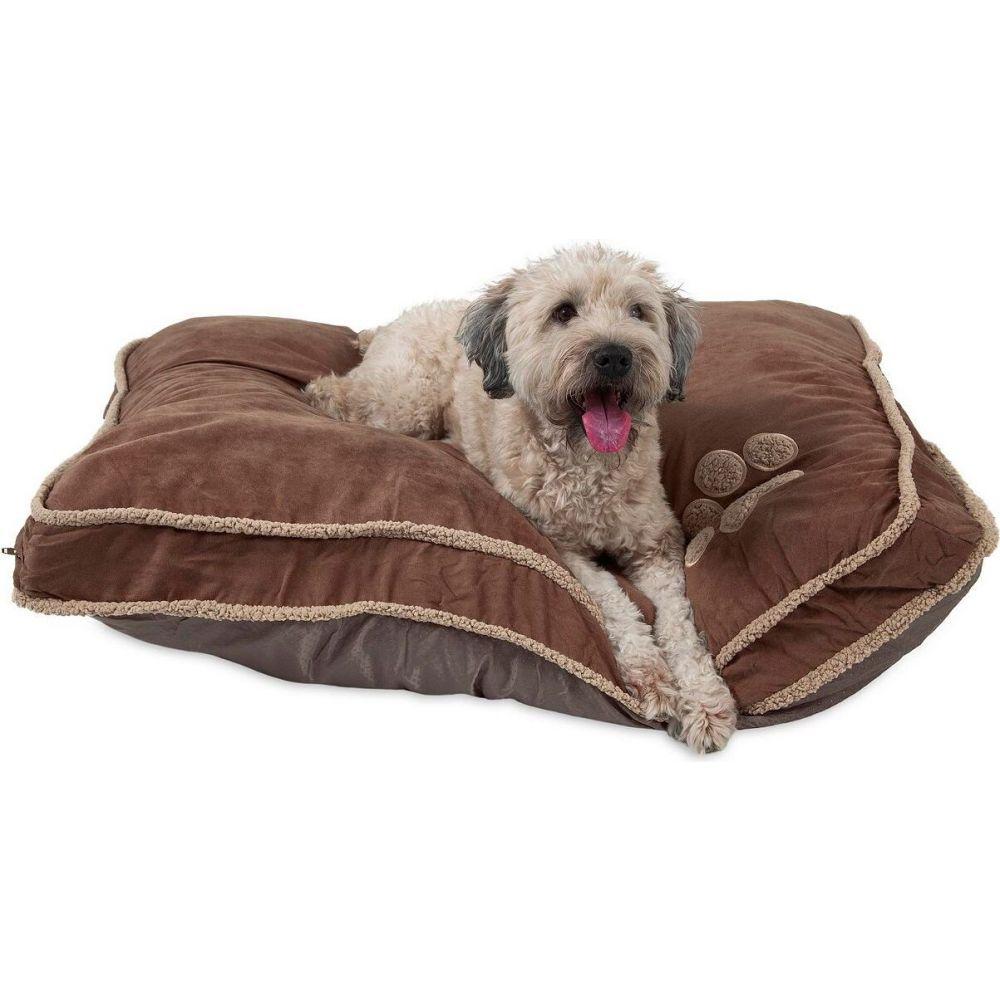 Aspen Pet アスペンペット ペットグッズ 犬用品 ベッド・マット・カバー ベッド【36 X 45 Shearling Gusseted Pillow Dog Bed】Dark Tan