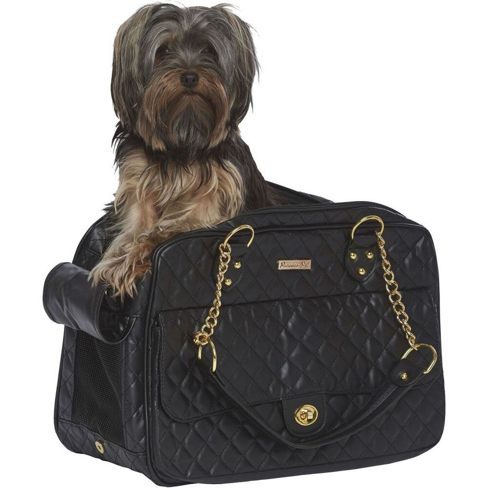 Parisian Pet パリジャンペット ペットグッズ 犬用品 キャリーバッグ 【London Quilted Dog Carrier】Black