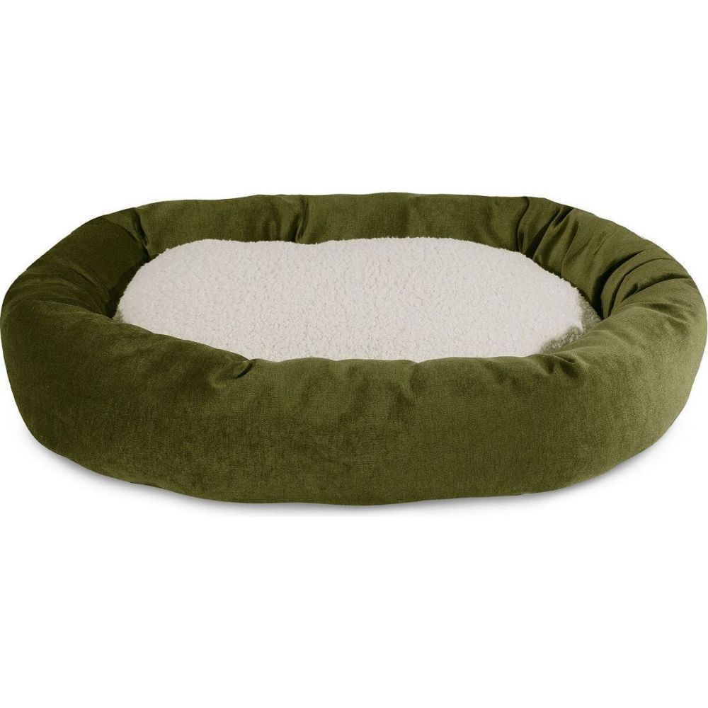 Majestic Pet マジェスティックペット ペットグッズ 犬用品 ベッド・マット・カバー ベッド【Villa Micro-Velvet Sherpa Bagel Dog Bed】Green