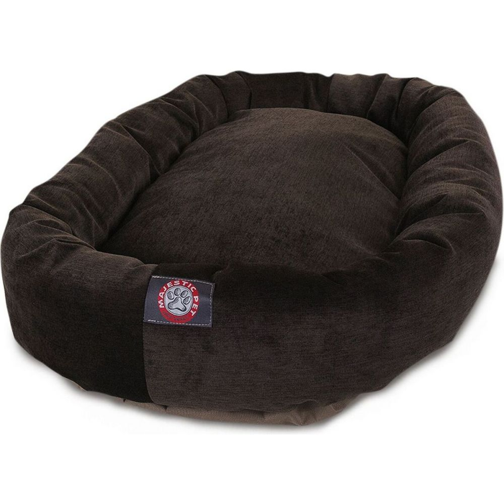 Majestic Pet マジェスティックペット ペットグッズ 犬用品 ベッド・マット・カバー ベッド【Villa Micro-Velvet Bagel Dog Bed】Dark Gray
