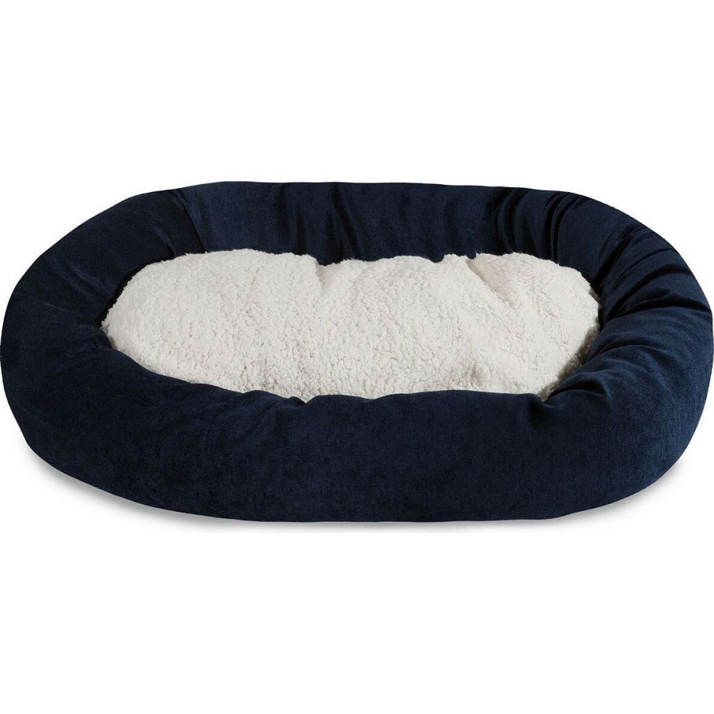 Majestic Pet マジェスティックペット ペットグッズ 犬用品 ベッド・マット・カバー ベッド【Villa Micro-Velvet Sherpa Bagel Dog Bed】Blue