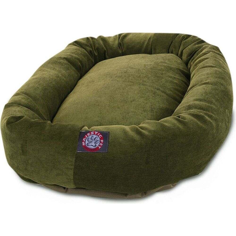 Majestic Pet マジェスティックペット ペットグッズ 犬用品 ベッド・マット・カバー ベッド【Villa Micro-Velvet Bagel Dog Bed】Green