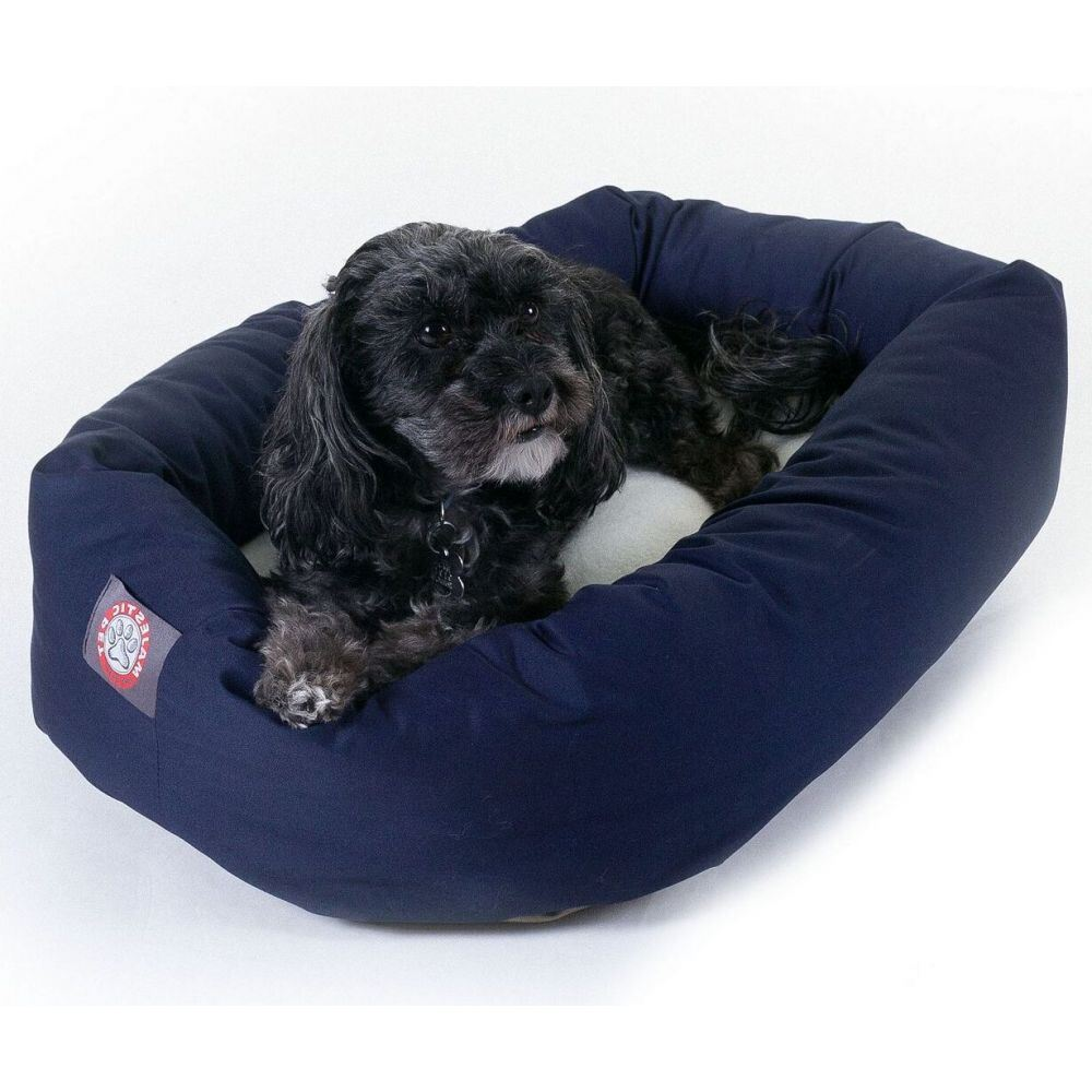 Majestic Pet マジェスティックペット ペットグッズ 犬用品 ベッド・マット・カバー ベッド【Poly Cotton Sherpa Bagel Dog Bed】Blue