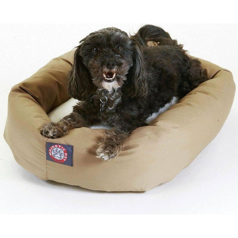 Majestic Pet マジェスティックペット ペットグッズ 犬用品 ベッド・マット・カバー ベッド【Poly Cotton Sherpa Bagel Dog Bed】Tan