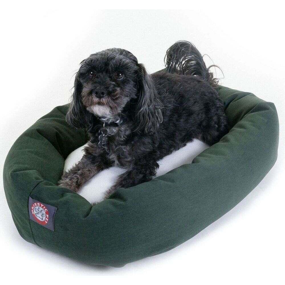 Majestic Pet マジェスティックペット ペットグッズ 犬用品 ベッド・マット・カバー ベッド【Poly Cotton Sherpa Bagel Dog Bed】Green