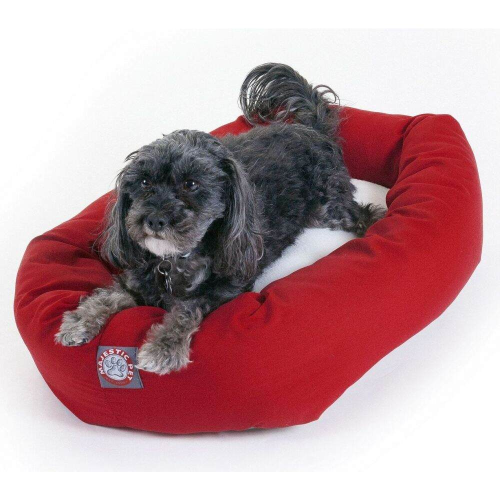 Majestic Pet マジェスティックペット ペットグッズ 犬用品 ベッド・マット・カバー ベッド【Poly Cotton Sherpa Bagel Dog Bed】Red