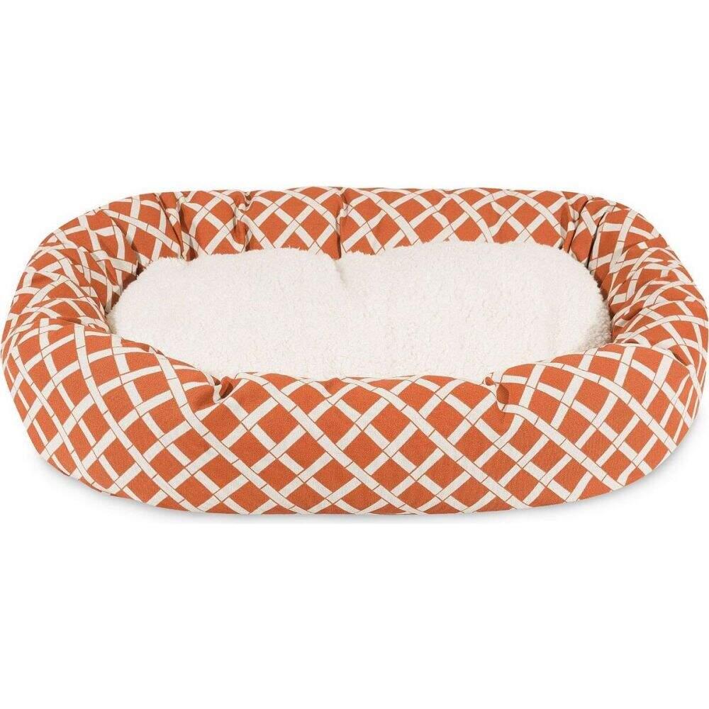 Majestic Pet マジェスティックペット ペットグッズ 犬用品 ベッド・マット・カバー ベッド【Bamboo Sherpa Bagel Dog Bed】Orange