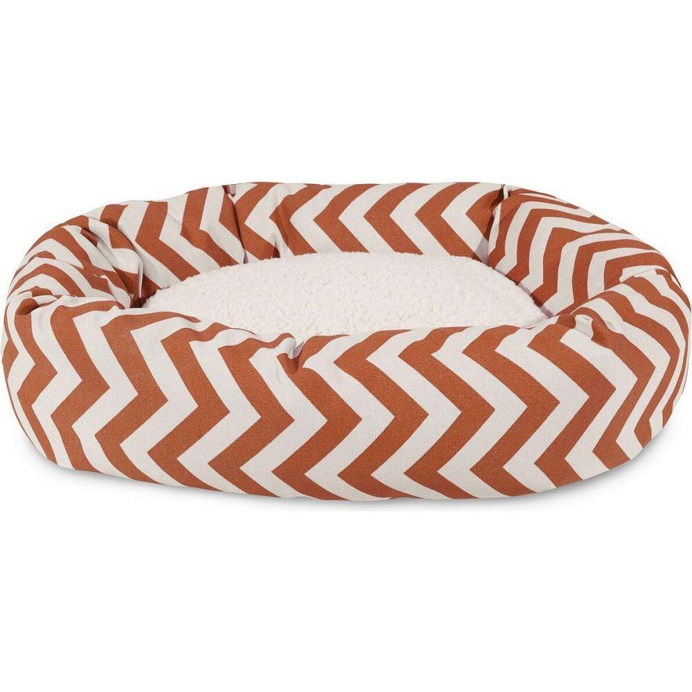 Majestic Pet マジェスティックペット ペットグッズ 犬用品 ベッド・マット・カバー ベッド【Chevron Sherpa Bagel Dog Bed】Orange
