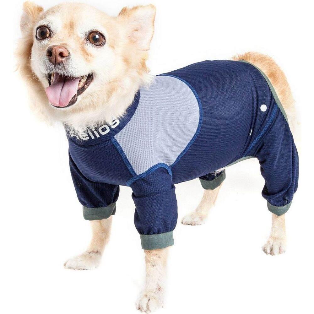 店内限界値引き中&セルフラッピング無料 お気に入 ドッグヘリオス Dog Helios ペットグッズ 犬用品 ウェア 'Tail Runner' Track Suit Blue Performance Lightweight Body Full