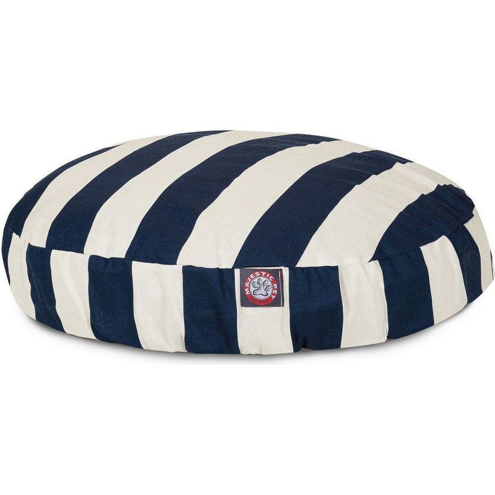 Majestic Pet マジェスティックペット ペットグッズ 犬用品 ベッド・マット・カバー ベッド【Vertical Stripe Round Dog Bed】Blue