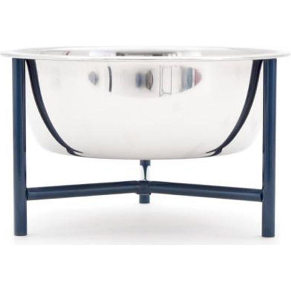 ドカペット Doca Pet ペットグッズ 秀逸 犬用品 激安卸販売新品 食器 フードボウル + Bowl Stand - Y Blue Navy