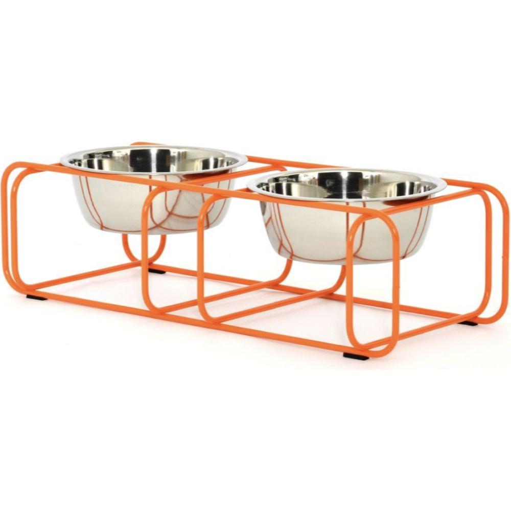 Doca Pet ドカペット ペットグッズ 犬用品 食器·フードボウル 【Wire and Dine Stand - Orange】