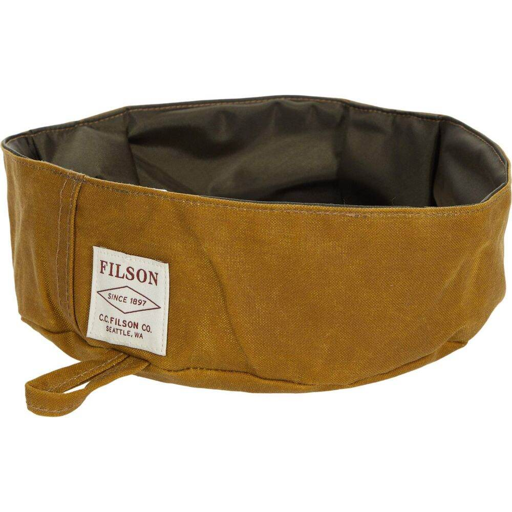 フィルソン Filson 新作 人気 ペットグッズ 犬用品 特売 食器 フードボウル Tan Short Bowl Dog Dark