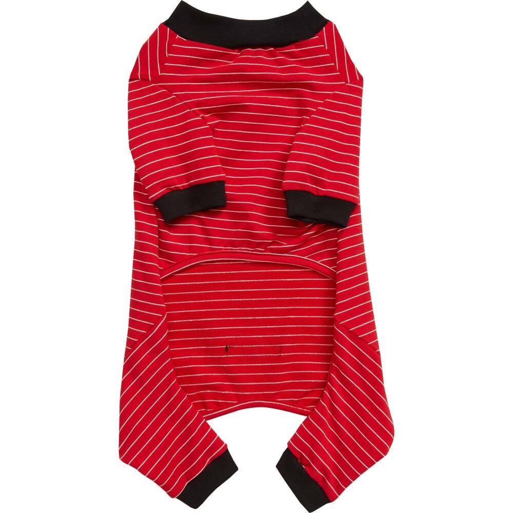 LOVETHYBEAST ペットグッズ 犬用品 ウェア 【Dog Bodysuit】Red Stripe