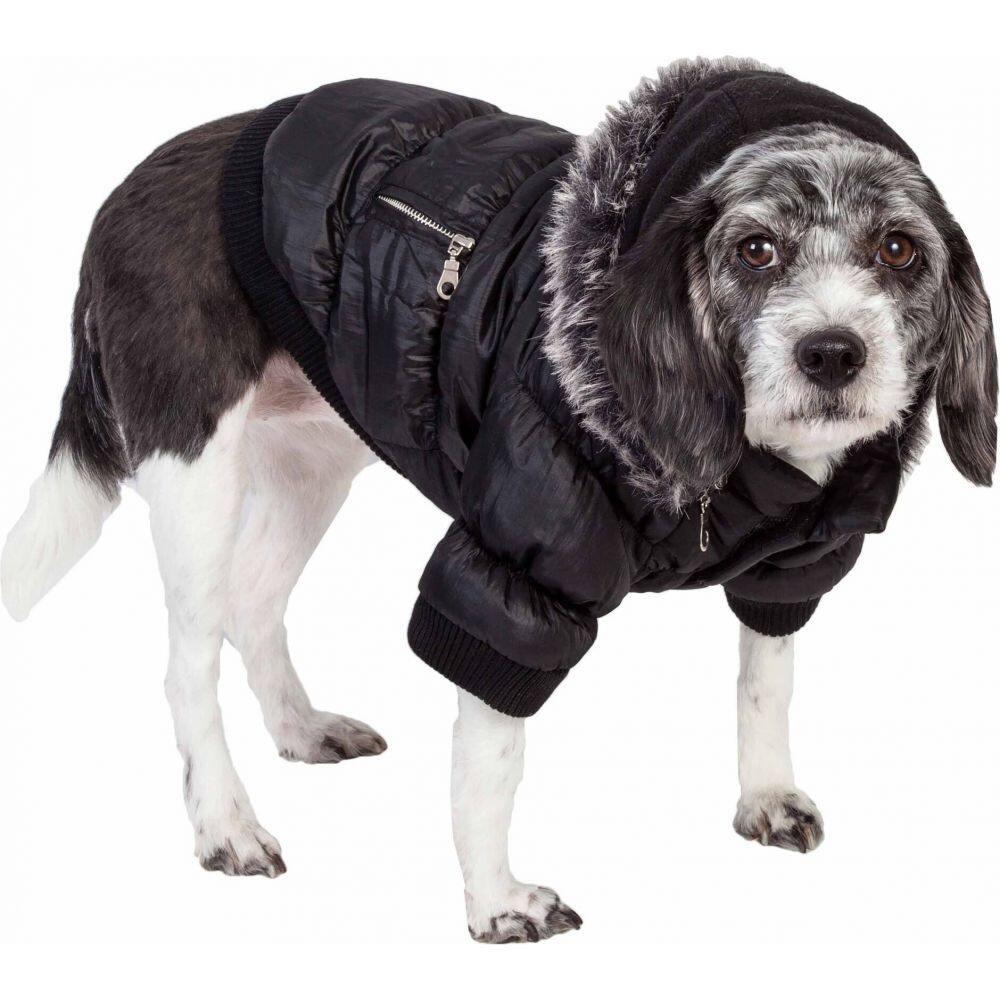 【Metallic ウェア 犬用品 ペットグッズ ペットライフ Life Pet Fashion Black】 - Coat Cat and Dog Parka Pet