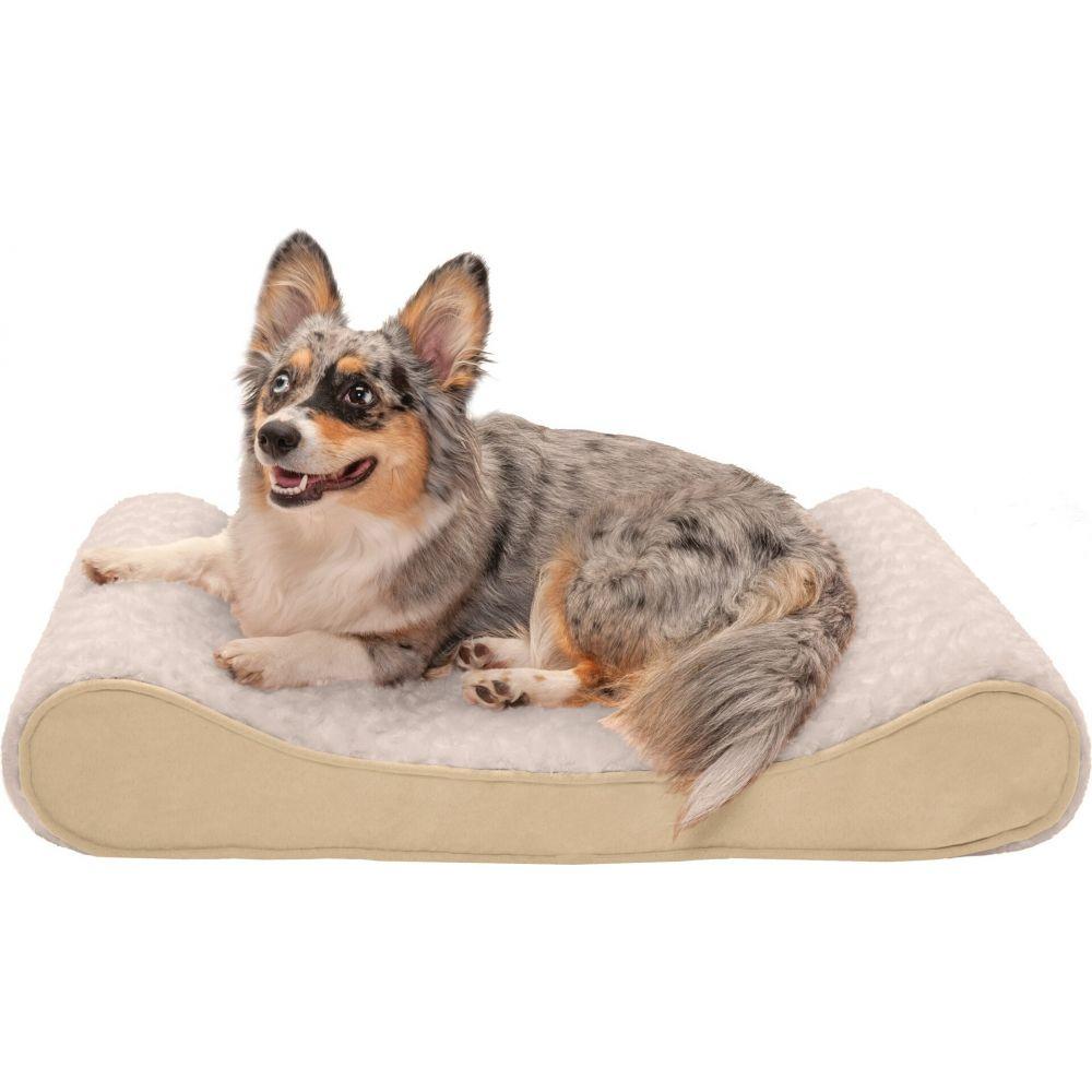 ファーヘイヴン FurHaven ペットグッズ 犬用品 ベッド FurHaven ファーヘイヴン ペットグッズ 犬用品 ベッド・マット・カバー ベッド【Ultra Plush  Suede Luxe Lounger Gel Top Dog Bed】cream