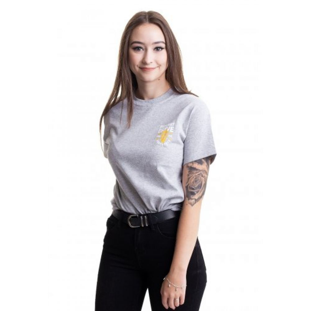 パークウェイ ドライヴ Parkway Drive Tシャツ レディース 期間限定特価品 T-Shirt Heavens Sportsgrey - grey トップス 奉呈