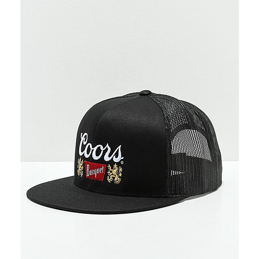 ブリクストン メンズ 帽子 キャップ Black サイズ交換無料 BRIXTON トラッカーハット II 奉呈 いつでも送料無料 x Coors Brixton Primary Trucker Hat クアーズ