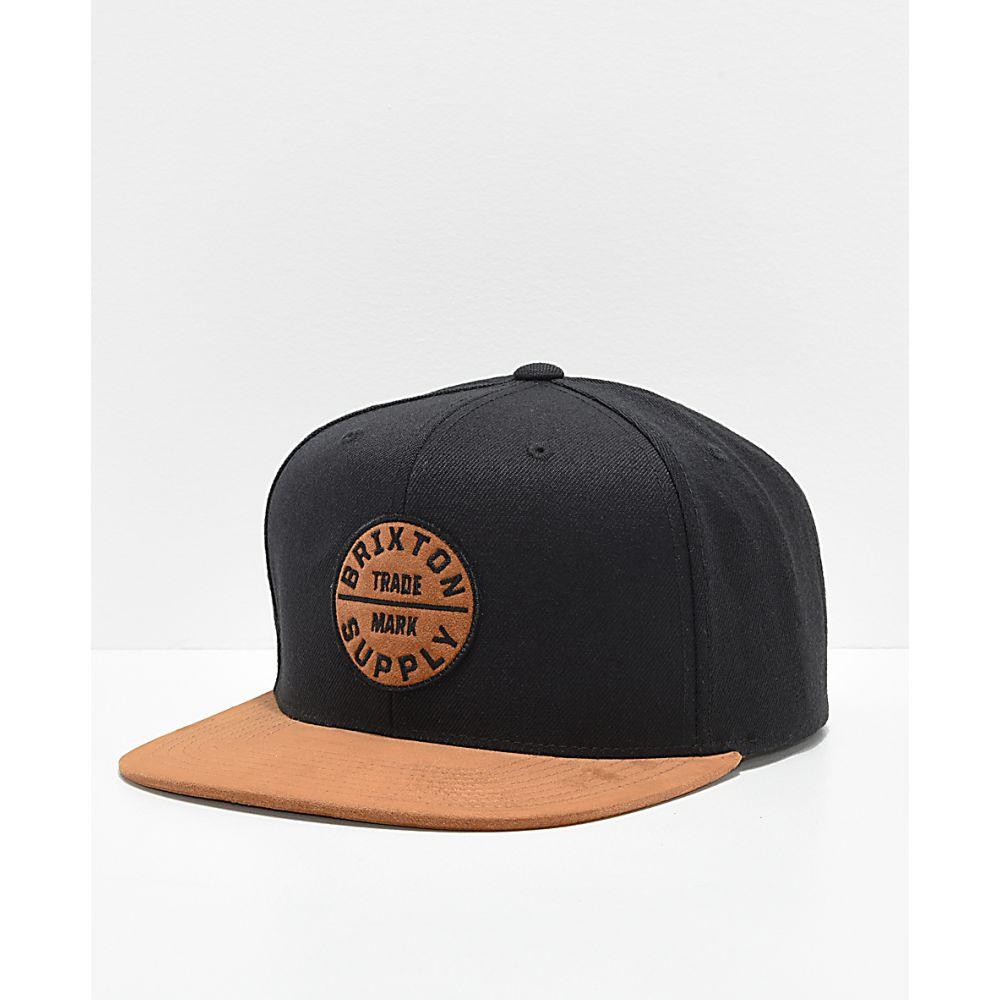 ブリクストン 高額売筋 限定品 メンズ 帽子 キャップ Black サイズ交換無料 BRIXTON Oath Hat Copper Snapback Brixton スナップバック III