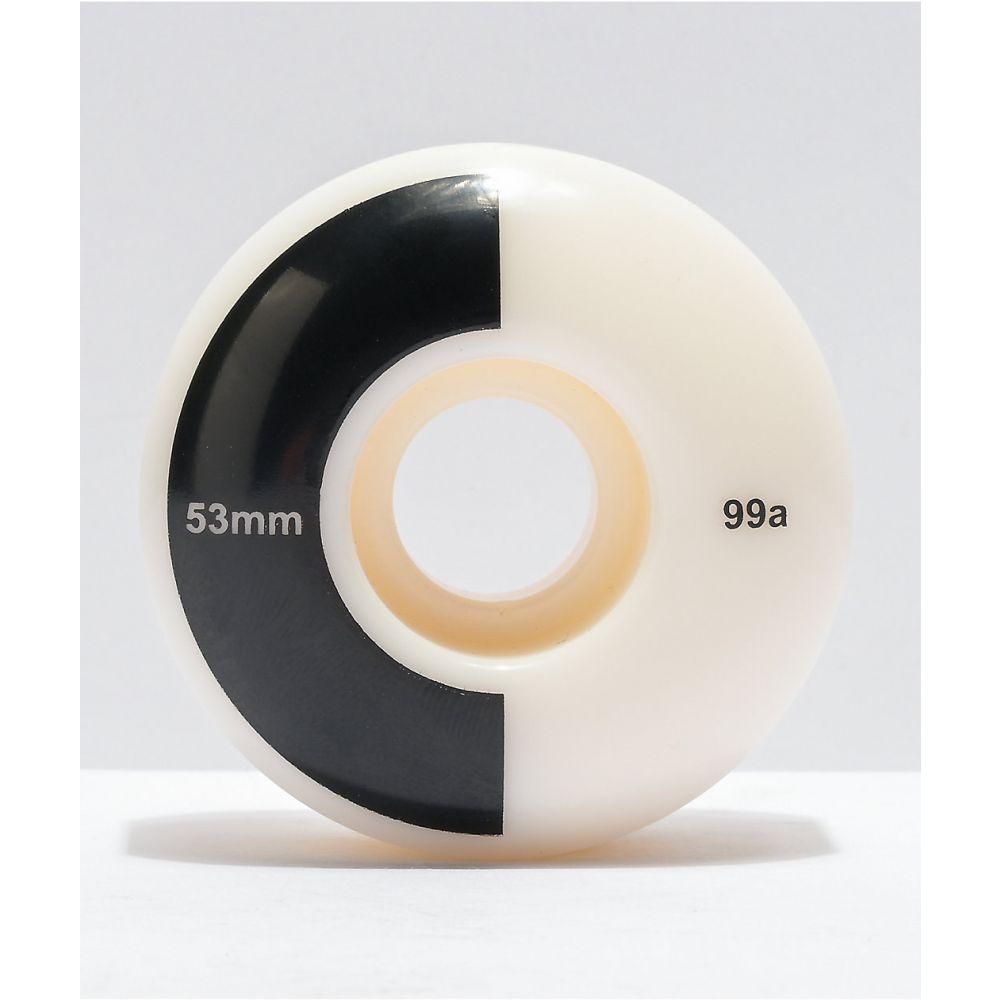 マーサー ユニセックス スケートボード その他スケートボード用品 White サイズ交換無料 MERCER Mercer Black 99a Skateboard 53mm ウィール 気質アップ 新着セール Wheels