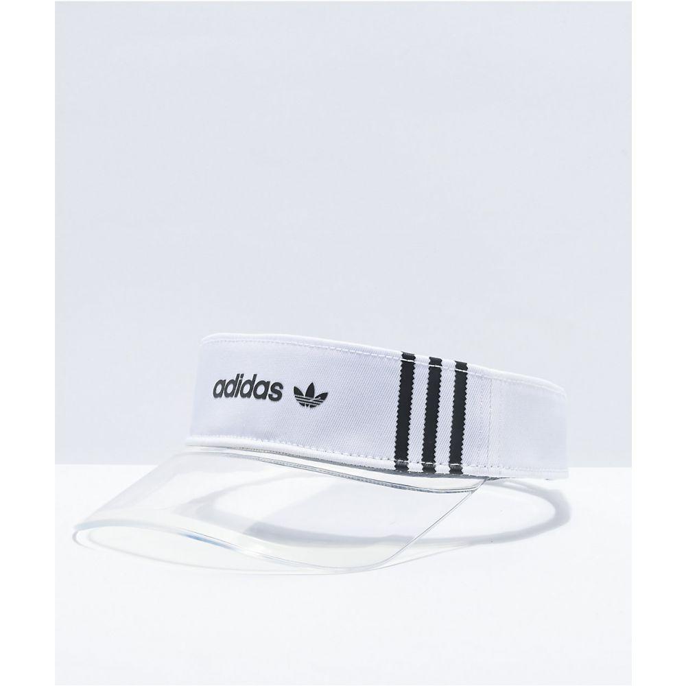 アディダス レディース 帽子 サンバイザー Black 買取 サイズ交換無料 ADIDAS トレンド Visor Tinted Originals adidas White Clear