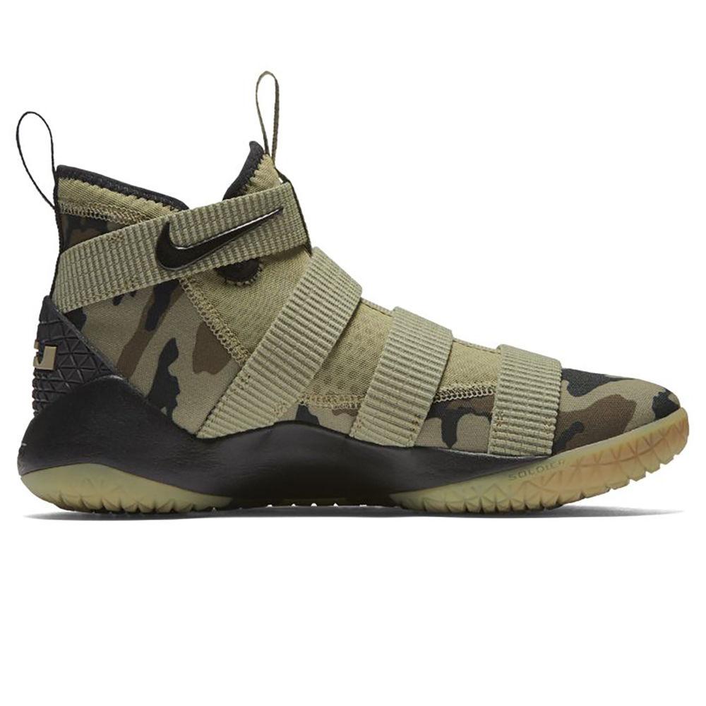 ナイキ Nike メンズ バスケットボール シューズ・靴【LeBron Soldier XI Basketball Shoe】Olive