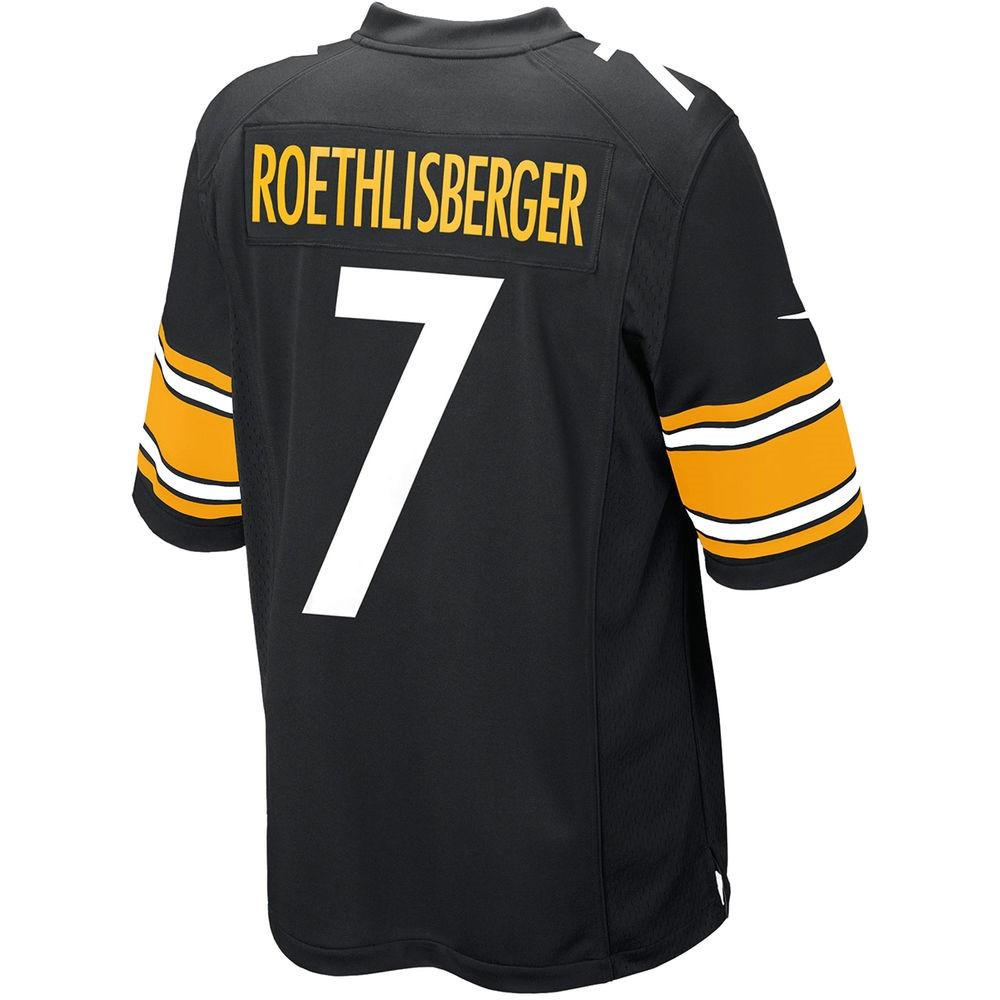 ナイキ Nike メンズ トップス【Pittsburgh Steelers Adult Ben Roethlisberger Game Jersey】Black