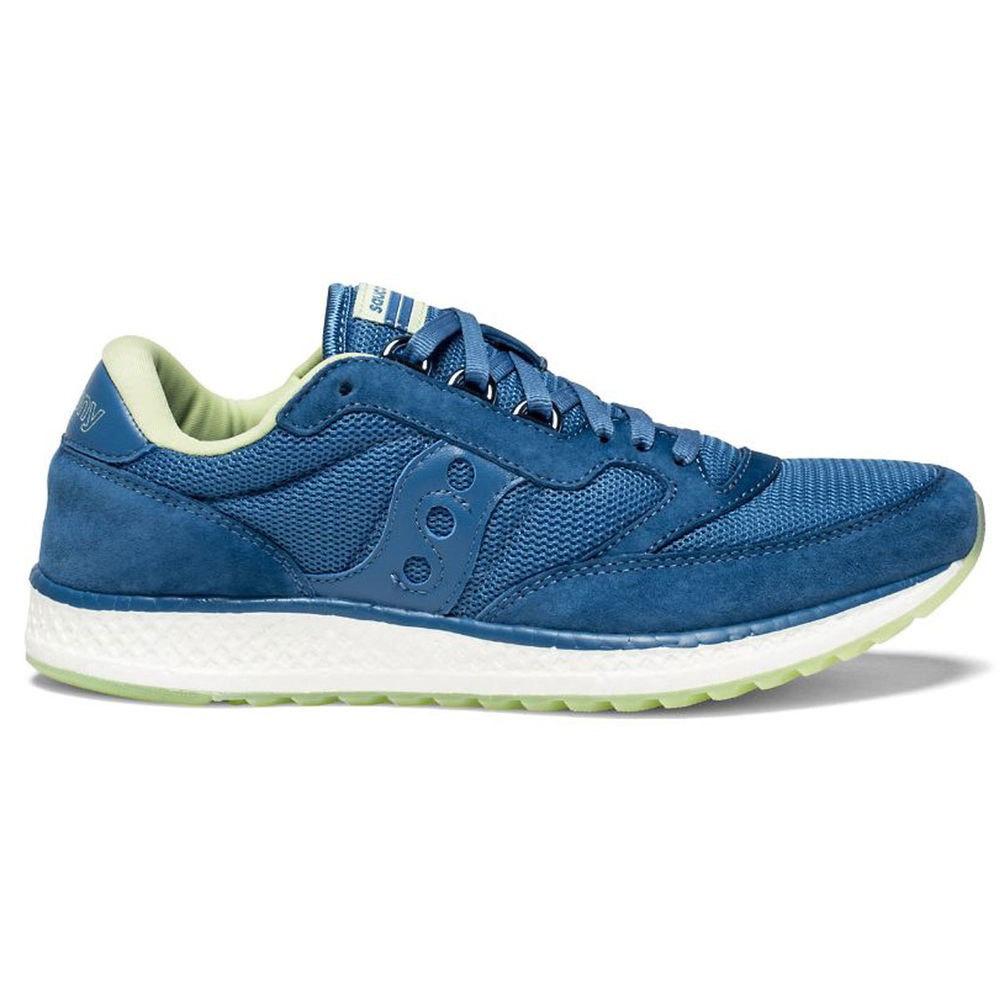 サッカニー Saucony レディース ランニング・ウォーキング シューズ・靴【Freedom Runner Running Shoe】Blue/White