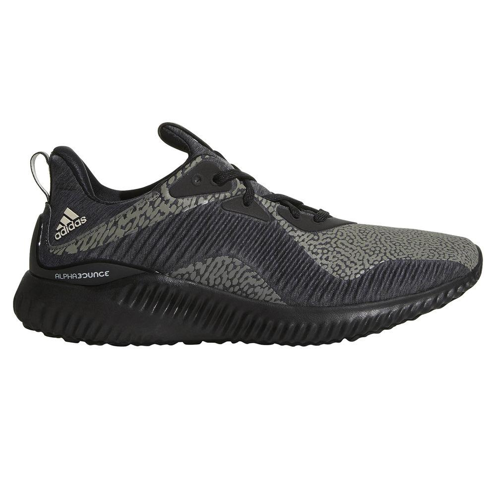 アディダス adidas メンズ ランニング・ウォーキング シューズ・靴【Alphabound Reflective Patterned Running Shoe】Black/Black