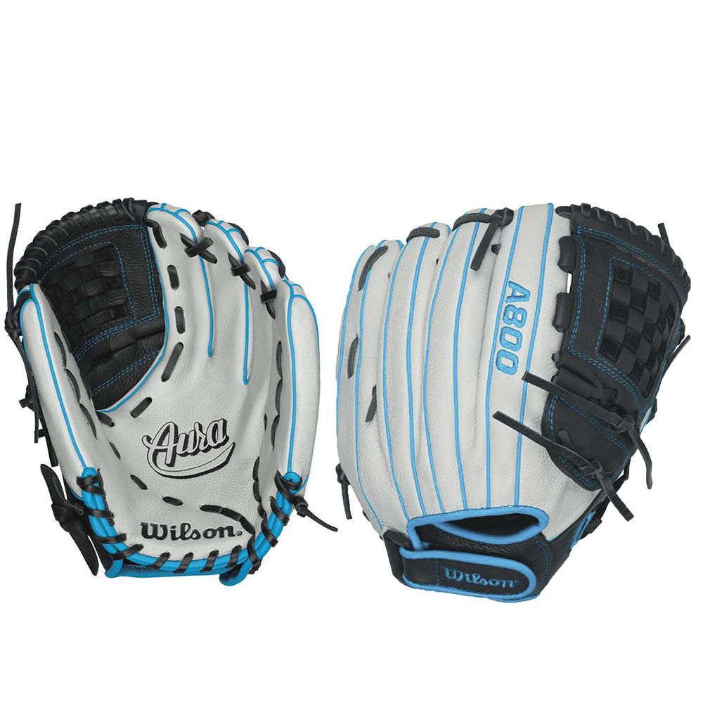 ウィルソン Wilson ユニセックス 野球 グローブ【Aura A800 12-Inch Fastpitch Softball Glove】Silver/Blue