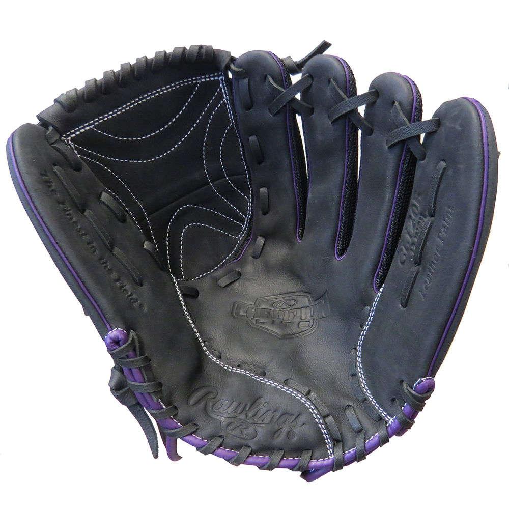 ローリングス Rawlings ユニセックス 野球 グローブ【Champion Lite 12 Inch Right Hand Throw Fast Pitch Softball Glove】Black/Purple