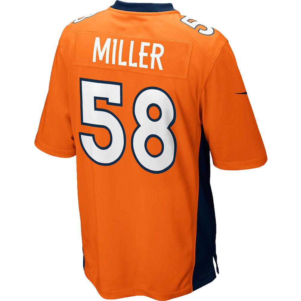 ナイキ Nike メンズ トップス【Denver Broncos Adult Von Miller Game Jersey】Orange
