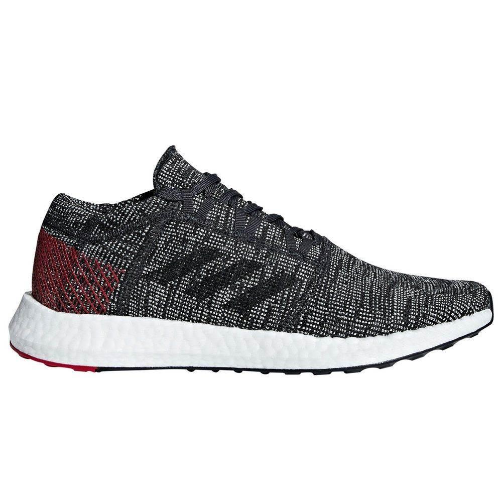 アディダス adidas メンズ ランニング・ウォーキング シューズ・靴【Pure Boost Go Running Shoes】Grey/Red