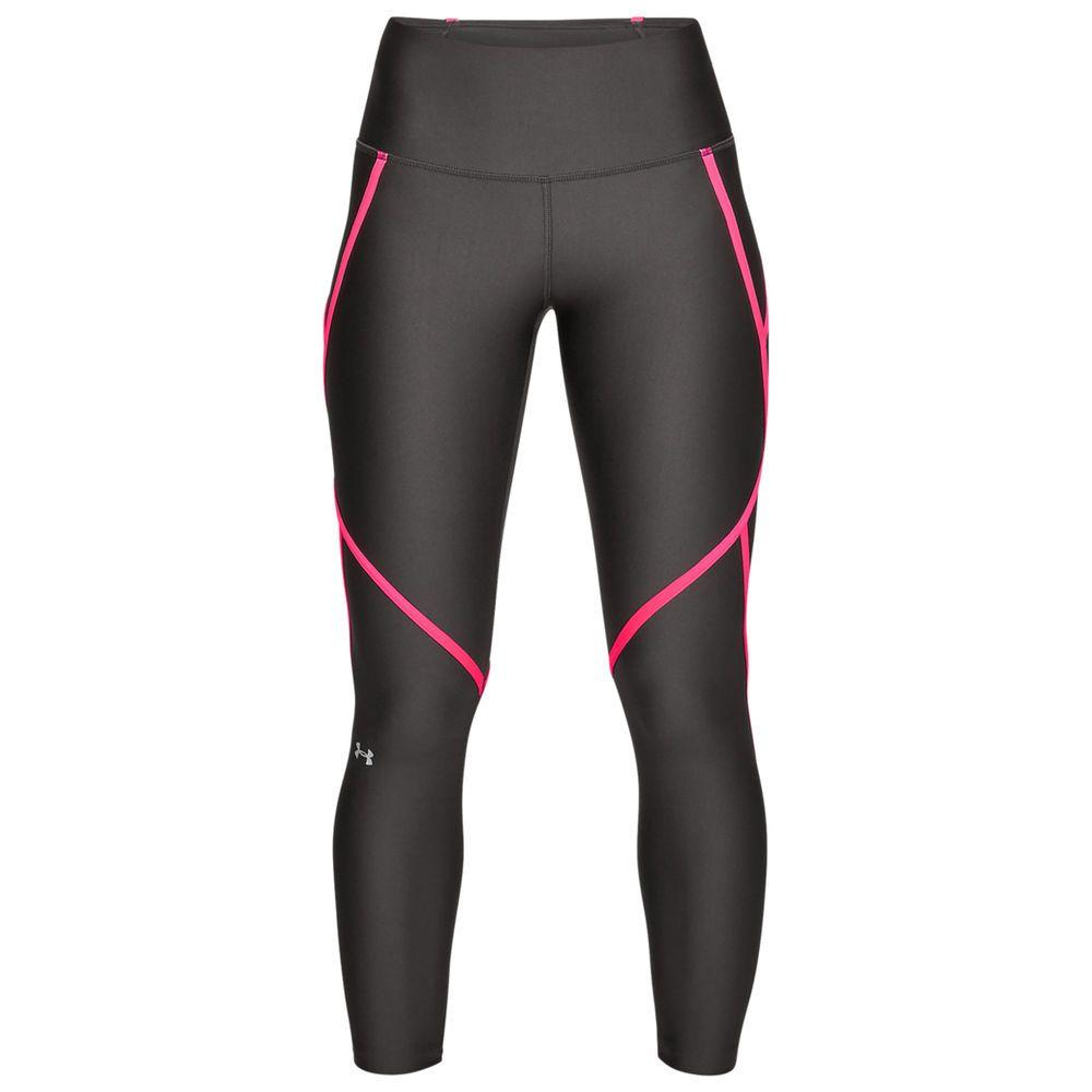 アンダーアーマー Under Armour レディース インナー・下着 スパッツ・レギンス【HeatGear Edgelit Ankle Crop Legging】Grey/Pink