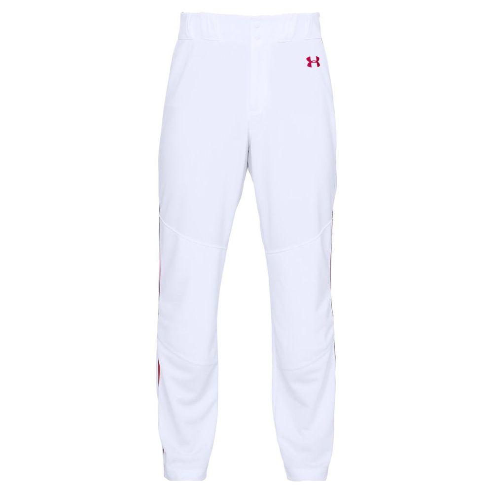 アンダーアーマー Under Armour メンズ 野球 ボトムス・パンツ【Utility Relaxed Piped Baseball Pant】White/Red