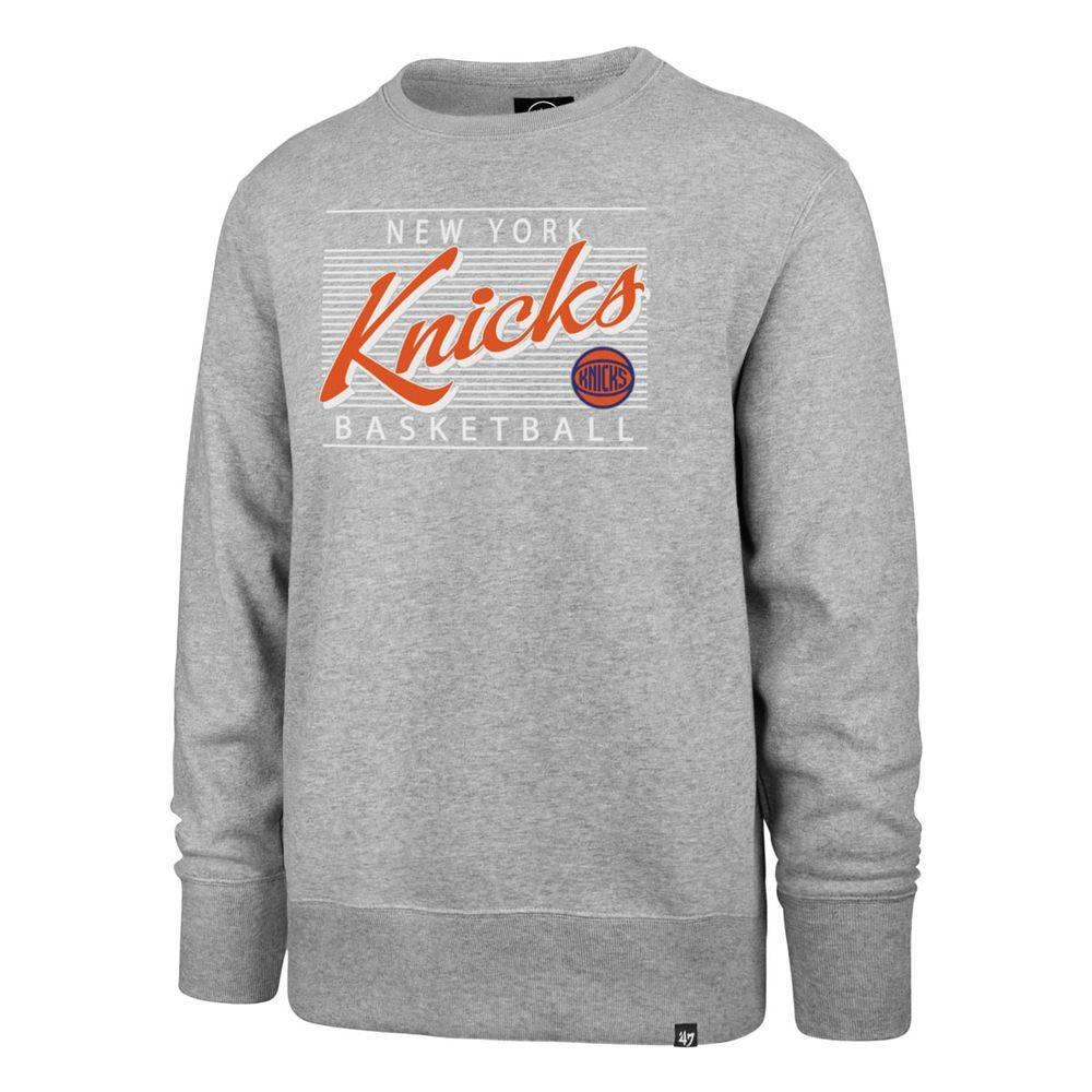 47ブランド 47 Brand メンズ トップス スウェット・トレーナー【New York Knicks 2018 Script Crew Neck Sweatshirt】Grey