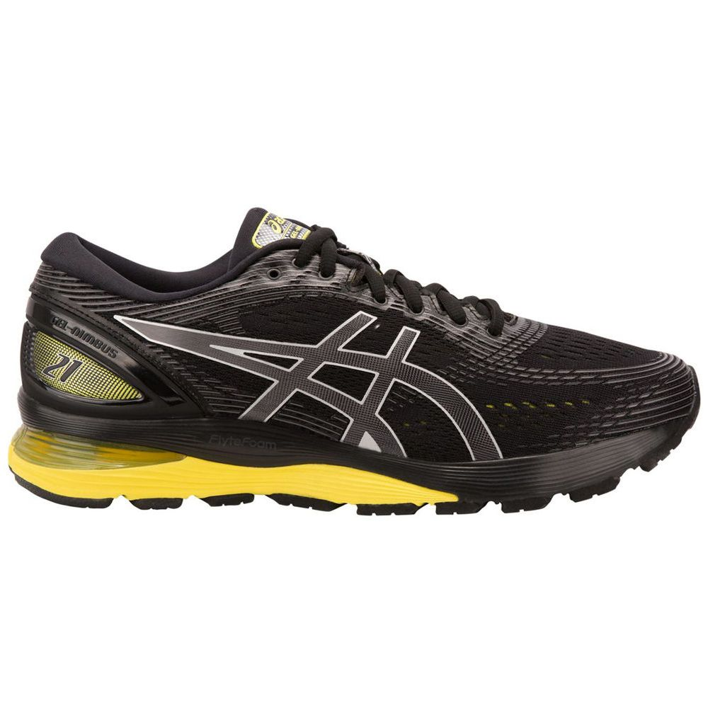 アシックス ASICS メンズ ランニング・ウォーキング シューズ・靴【GEL-Nimbus 21 Running Shoe】Black/Yellow