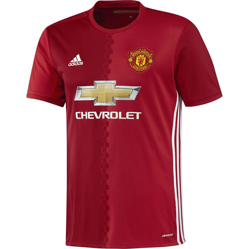 アディダス adidas メンズ サッカー トップス【Manchester United Adult 2016-2017 Home Replica Jersey】Red