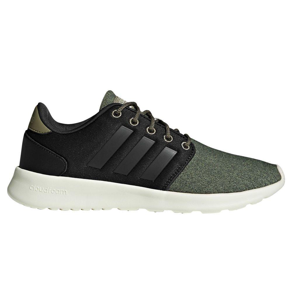 アディダス adidas レディース シューズ・靴 スニーカー【Cloudfoam QT Racer Casual Shoe】Grey/Green