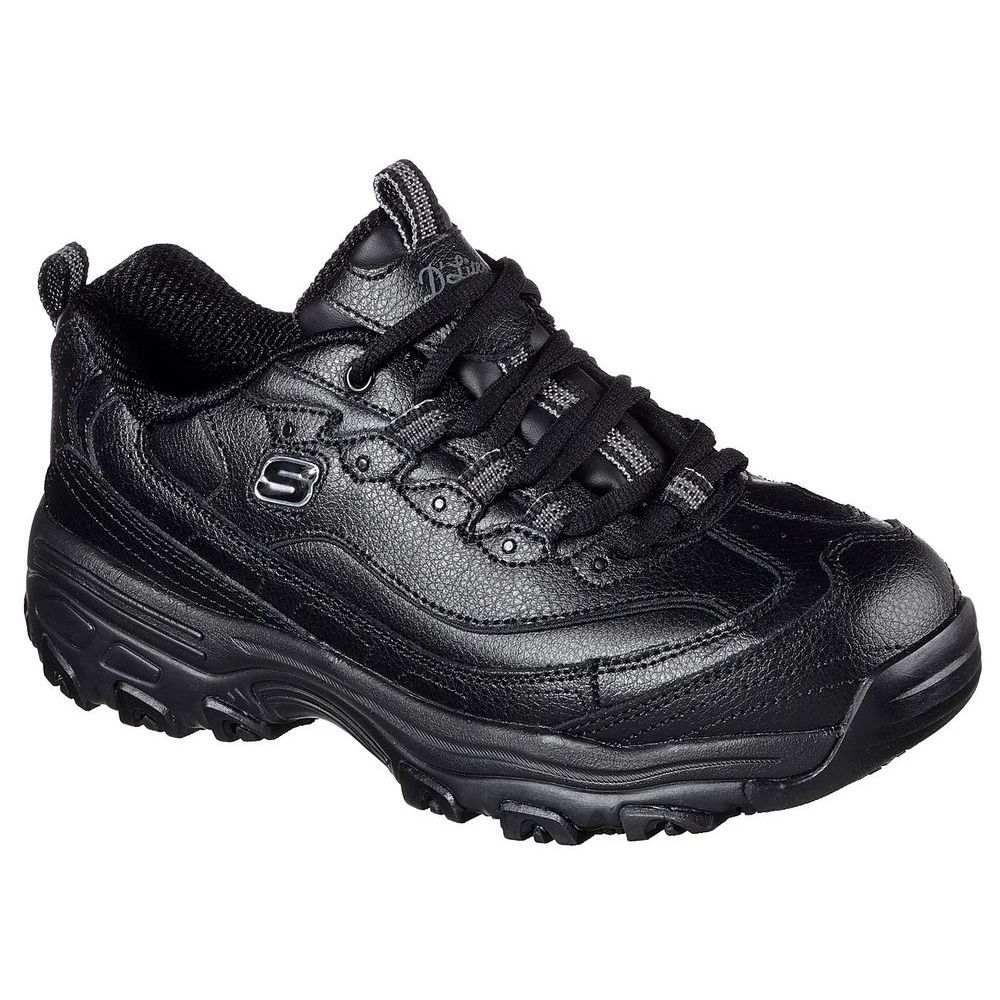 スケッチャーズ Skechers レディース シューズ・靴【D Lite Marbleton Slip Resistant Shoe (Wide)】Black