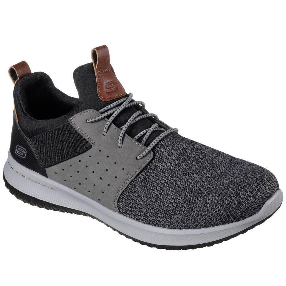 スケッチャーズ Skechers メンズ ランニング・ウォーキング シューズ・靴【Delson Walking Shoe】Black/Grey