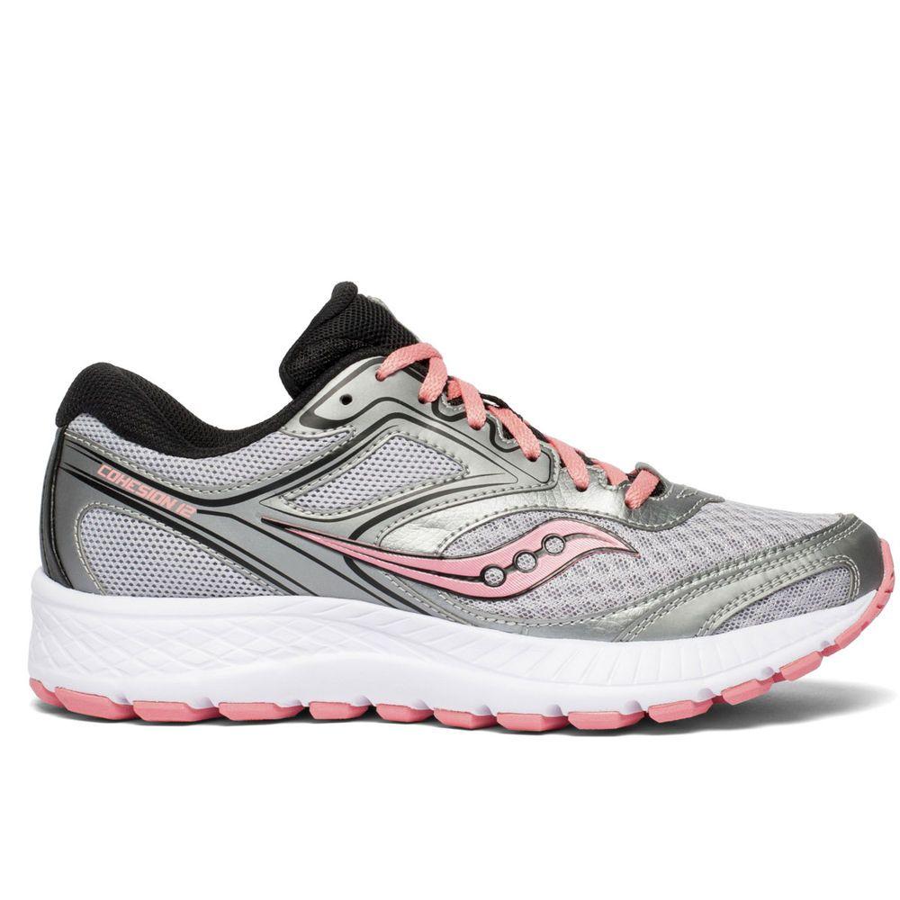 サッカニー Saucony レディース ランニング・ウォーキング シューズ・靴【Cohesion 12 Wide Width Running Shoe】Silver
