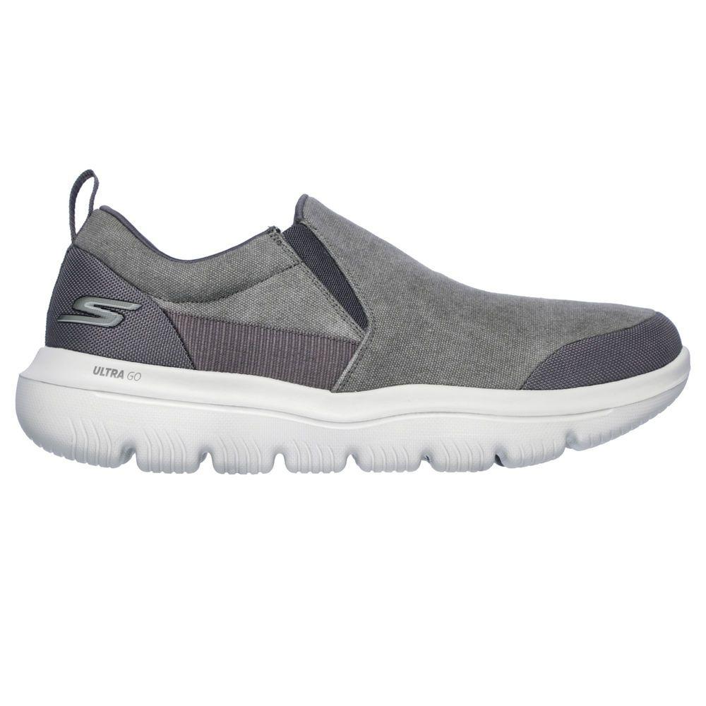 スケッチャーズ Skechers メンズ ランニング・ウォーキング シューズ・靴【Go Walk Evolution Ultra-Ramble Casual Shoe】Grey/White