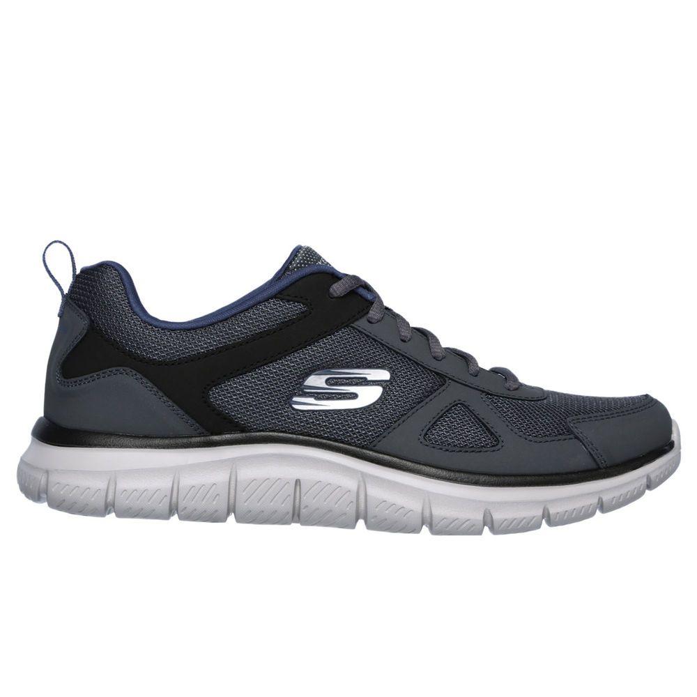 スケッチャーズ Skechers メンズ ランニング・ウォーキング シューズ・靴【Track Wide Width Walking Shoe】Grey/Navy