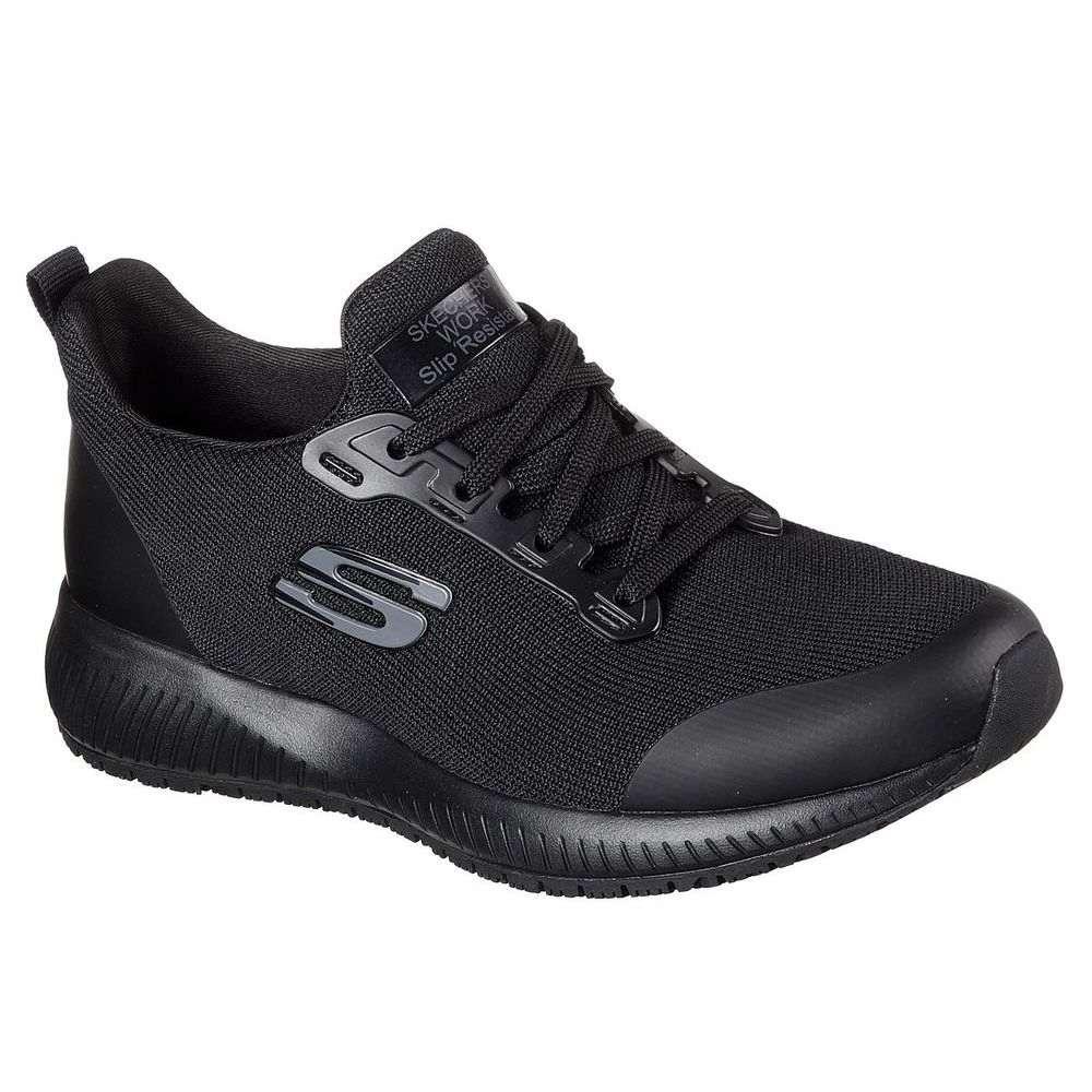 スケッチャーズ Skechers レディース シューズ・靴【Squad Slip Resistant Shoe】Black