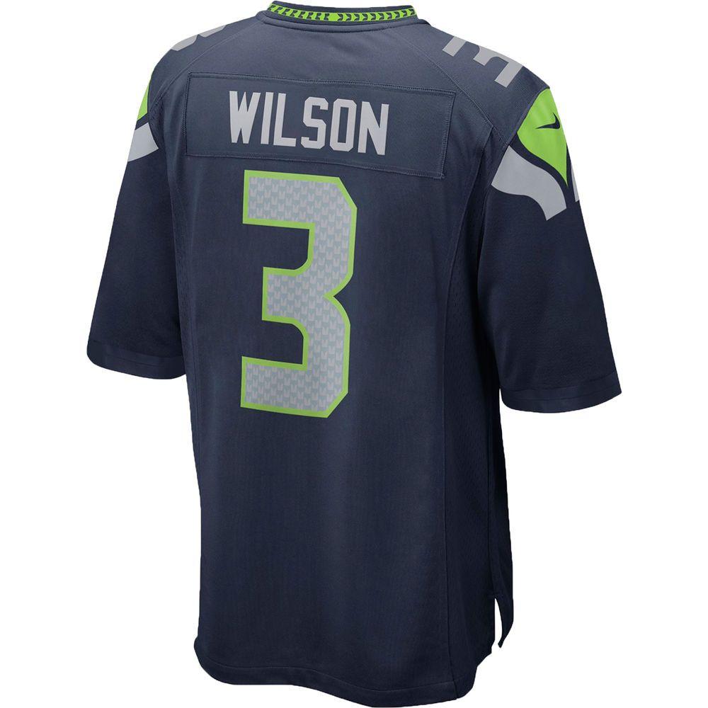 ナイキ Nike メンズ トップス【Seattle Seahawks Adult Russell Wilson Game Jersey】Navy